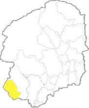 栃木県内における足利市の位置