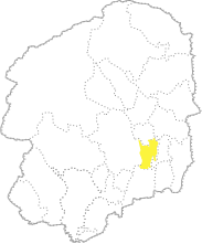 栃木県内における芳賀町の位置