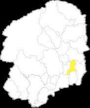 栃木県内における市貝町の位置