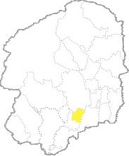 栃木県内における上三川町の位置