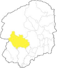 栃木県内における鹿沼市の位置