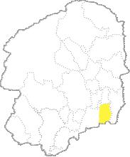 栃木県内における益子町の位置