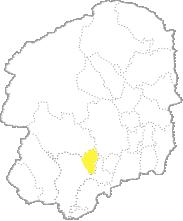 栃木県内における壬生町の位置