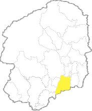 栃木県内における真岡市の位置