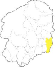 栃木県内における茂木町の位置