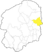 栃木県内における那珂川町の位置