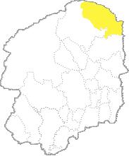 栃木県内における那須町の位置