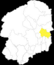 栃木県内における那須烏山市の位置