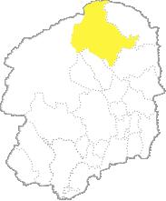 栃木県内における那須塩原市の位置