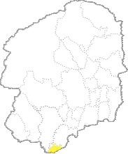 栃木県内における野木町の位置