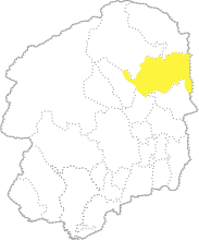 栃木県内における大田原市の位置