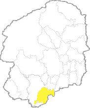 栃木県内における小山市の位置