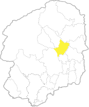 栃木県内におけるさくら市の位置