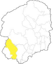 栃木県内における佐野市の位置