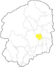 栃木県内における高根沢町の位置
