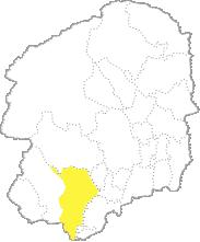 栃木県内における栃木市の位置