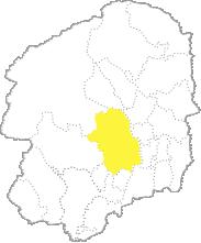 栃木県内における宇都宮市の位置