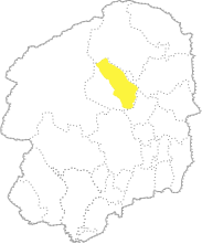 栃木県内における矢板市の位置