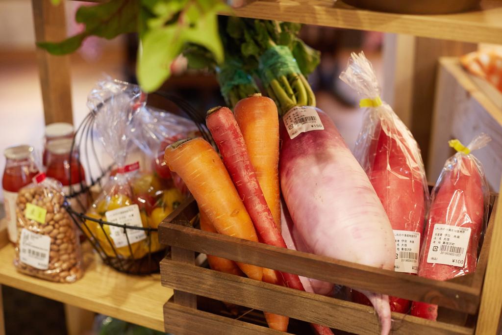 店内で販売されている野菜