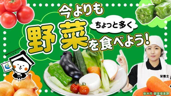 【協力隊からのお知らせ】野菜摂取啓発動画「今よりもちょっと多く野菜を食べよう!」を制作しました